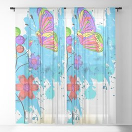 Season of Colors Sheer Curtain