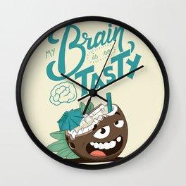 My brain is so tasty Wall Clock