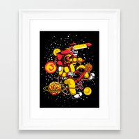 space jam Framed Art Prints featuring Space Jam DJ by playhouse
