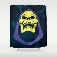skeletor Shower Curtains featuring Skeletor by Some_Designs