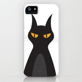 Halloween Vampire Cat Portrait iPhone Case