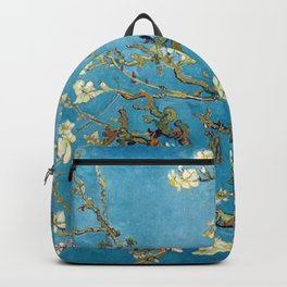 Almond Blossom Vincent Van Gogh Blue Backpack