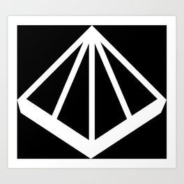 OMD Symbol Reversed Art Print