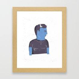 Grumpy guy Framed Art Print