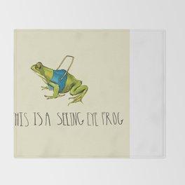 Seeing Eye Frog Throw Blanket