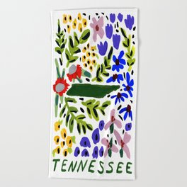 Tennessee + Florals Beach Towel
