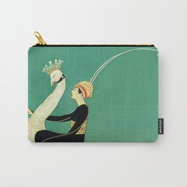 Vintage Magazine Cover - Peacock Carry-All Pouch