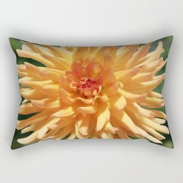 Stunning Apricot Dahlia Rectangular Pillow