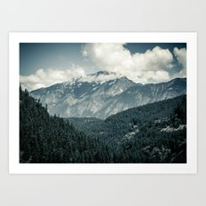 Snow Capped Peak Art Print