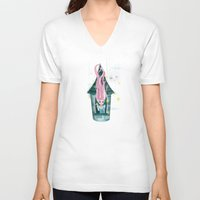 rapunzel V-neck T-shirts featuring Rapunzel  by Diana_Amaral
