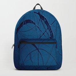 Navy Blue - Jackson Pollock Style - Modern Art Backpack