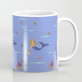 Fashionable mermaid - violet Coffee Mug