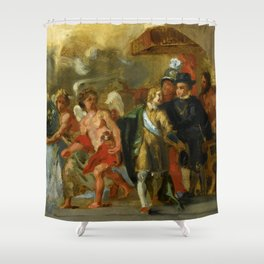 "Eugène Delacroix ""The stage of Archduchess Isabella (After Rubens)"" Shower Curtain"