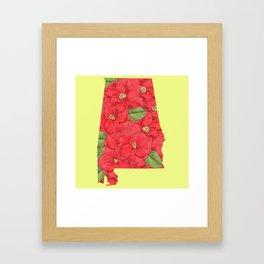 Alabama in Flowers Framed Art Print