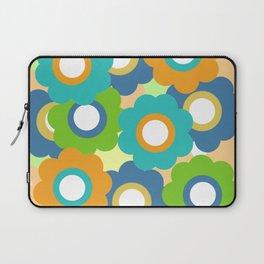 Retro Vintage Bundle of Flowers - Turquoise 2 Laptop Sleeve