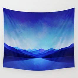 Midnight Blue Wall Tapestry