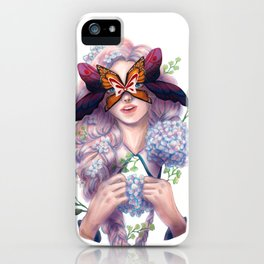 The Butterfly Mask iPhone Case