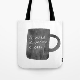Morning Breakfast Coffee Mug Tote Bag