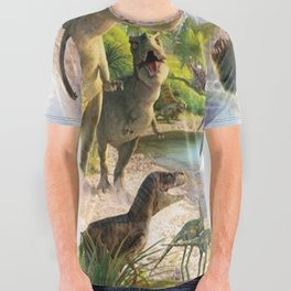 Jurassic dinosaur All Over Graphic Tee