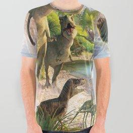 Jurassic dinosaur All Over Graphic Tee