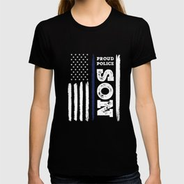 I Back The Blue Proud Police Son Thin Blue Line T-shirt