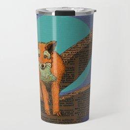 Fox at night Travel Mug