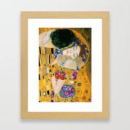 The Kiss by Gustav Klimt Framed Art Print