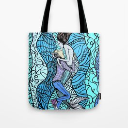 Jonathon & the Mermaid Tote Bag