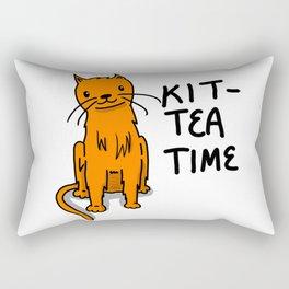 Kit-Tea Time | Veronica Nagorny  Rectangular Pillow