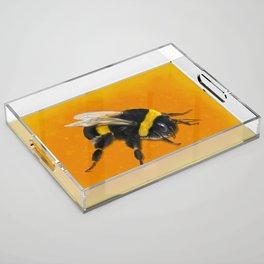 Fuzzy Bumblebee Acrylic Tray
