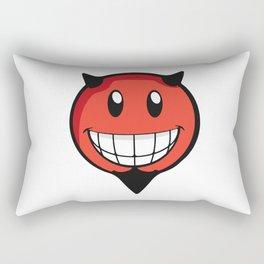 Devil Smiley Rectangular Pillow