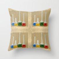lab Throw Pillows featuring Lab by Nikolay Raikov