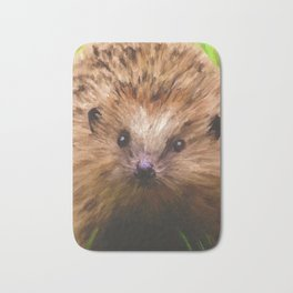 Hedgehog in the Grass Bath Mat
