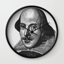 William Shakespeare Portrait Wall Clock