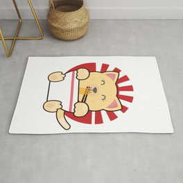 Kawaii Japanese Anime Cat print Gift Ramen Noodle Gift product Rug