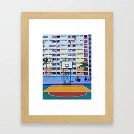 rainbow house (彩虹邨) Framed Art Print