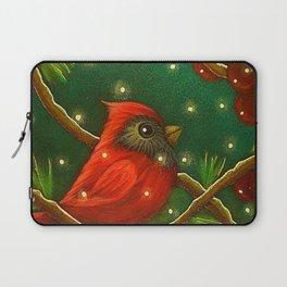 HOLIDAY TINY RED CARDINAL BIRD - MORE SNOW Laptop Sleeve