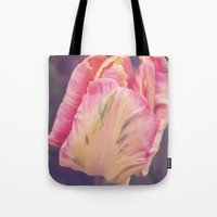 blush Tote Bags featuring Blush by Strange Charm
