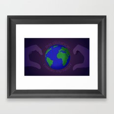 This distance breaks my heart Framed Art Print