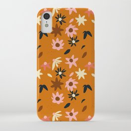 Fall flowers pattern iPhone Case