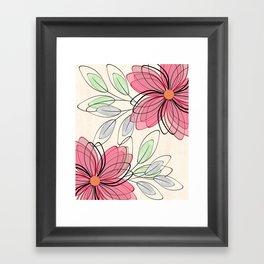 Large pink flowers. Framed Art Print