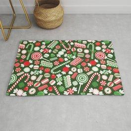 Christmas Candy Traditional Rug