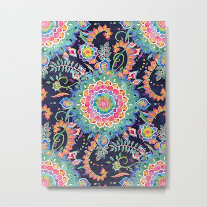 Color Celebration Mandala Metal Print