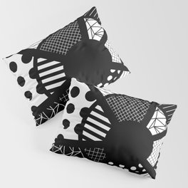 Twisted Web - Black And White, Patterned, Abstract Art Pillow Sham