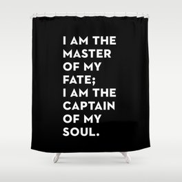 Invictus (Black) Shower Curtain