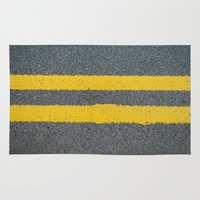 street Area & Throw Rugs featuring Street by Anna Berthier