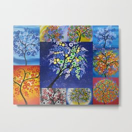 Circle tree trees with circles cathy jacobs of SheerJoy Metal Print