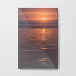 Sunset Sings Quietly Metal Print