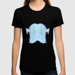 Duel lion blue T-shirt