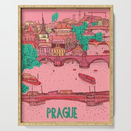 pink prague Serving Tray
